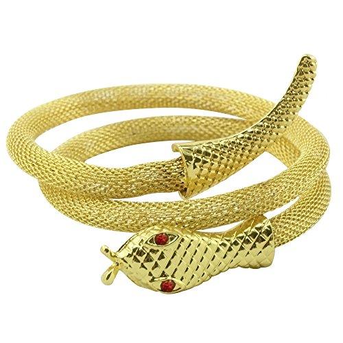 com-four Armband Schlange des Nils in Goldfarben (Schlange goldfarben - Armband)