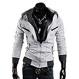 Assassins Creed 3 Hoodie Jacke,Assassin's Creed 3 Desmond Miles Jacket Hoodie Costume in M Size Grey B01 Assasins creed merchandise assassins creed desmond,Wonder Cosplay