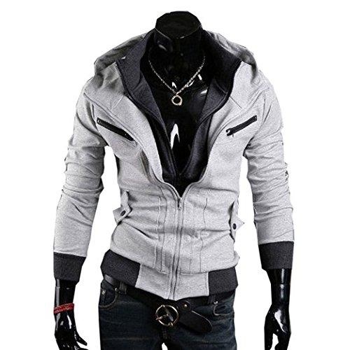 Assassins Creed 3 Hoodie Jacke,Assassin's Creed 3 Desmond Miles Jacket Hoodie Costume in M Size Grey B01 Assasins creed merchandise assassins creed desmond,Wonder ()