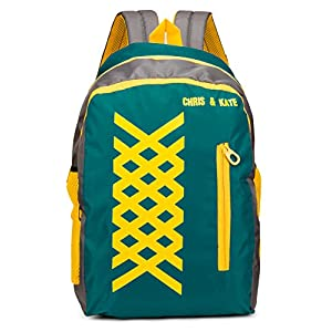 Chris & Kate Polyester 27 Litres Green School Bag