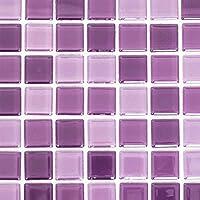 Mosaik Fliese Transluzent Lila Glasmosaik Crystal Lila Für WAND BAD WC  DUSCHE KÜCHE FLIESENSPIEGEL THEKENVERKLEIDUNG BADEWANNENVERKLEIDUNG