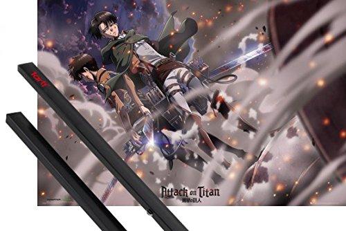 poster-suspension-lattaque-des-titans-poster-91x61-cm-battle-et-kit-de-fixation-noir-1art1r