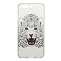 For Huawei P10 Plus Case [With Tempered Glass Screen Protector],idatog(TM) Soft Silicone Bumper Ultra Thin Slim Flexible Cover Case ,High Quality TPU with Colorful Cute Printed Pattern Fashion Design Protective Back Rubber Case Cover Shell Perfect Fitted