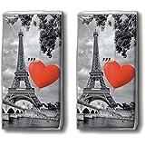 Mouchoirs 20 (2 x 10), city of love amour est situé dans la ville/paris, france/motivtaschentücher