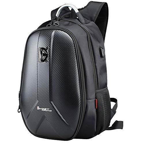 WOSAWE Zaino da Moto Impermeabile Hard Shell Grande capacità Casco Storage Bag Equitazione Borsa per Portatile per Viaggiare Campeggio Ciclismo