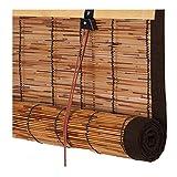 PENGFEI Tenda A Rullo Bamboo Tapparella Cortina di bambù Partizione Interna Reed Curtain A Prova di Polvere A Prova di umidità, 3 Colori, Dimensioni Personalizzate