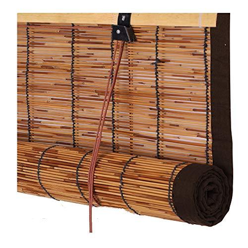 PENGFEI Estores De Bambú Persiana Enrollable Ventana Sala De Te Dividir Cortina De Caña Respirable Retro, 3 Colores, Personalización del Tamaño (Color : B, Tamaño : 80X180CM)