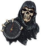 Nemesis Sensenmann Skelett Gesicht der Zeit Hanging Wanduhr