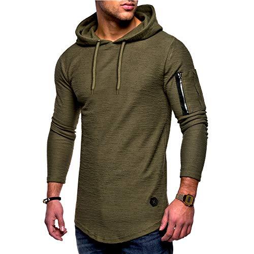 KUDICO Herren Hoodies Sweatshirt Pullover Basic Long Sleeve -