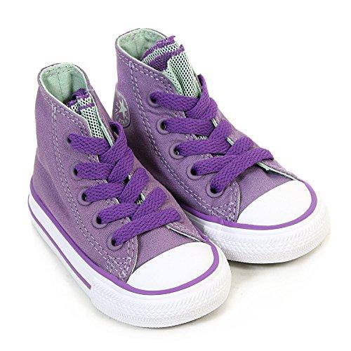 CONVERSE ALL STAR Hi da bambina, colore: rosa/zaffiro/rosa Neon/-Scarpe da ginnastica alte, colore: nero Lilac