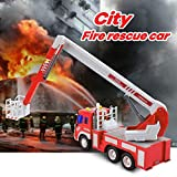GizmoVine Toys for 2 Years Old Boys, Friction Powered Fire Truck, Inertial Vehicles Gift Construction Toy Cars for Toddlers & Kids