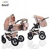 Bebebi myVARIO | 2 in 1 passeggino con carrozzina modulari combinabili | ruote ad aria | Colore: myGold