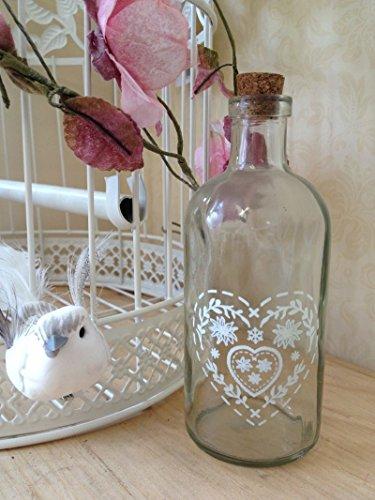 Botella de cristal Taponeras la vendimia del brote del florero decorac
