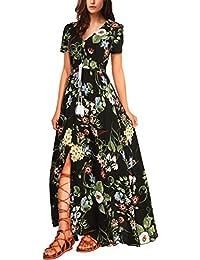 WAJAT - Vestido Largo para Mujer Estampado Floral