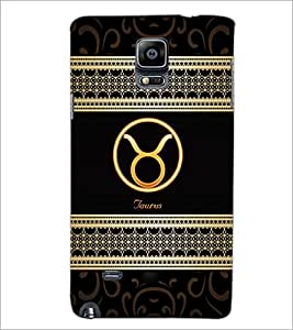 PrintDhaba Zodiac Taurus D-2609 Back Case Cover for SAMSUNG GALAXY NOTE 2 (Multi-Coloured)