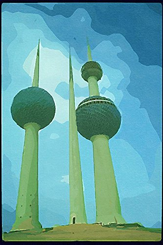 260077 Municipal Water Towers Kuwait City Kuwait_Dup1 A4 Photo Poster Print 10x8 - Kuwait Towers