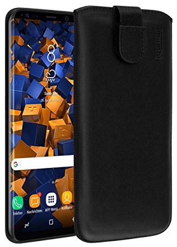 mumbi ECHT Ledertasche für Samsung Galaxy S8+ Tasche Leder Etui (Lasche mit Rückzugfunktion Ausziehhilfe)