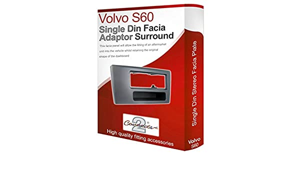 Volvo S60 stereo radio Facia Fascia adapter panel plate trim CD surround Single