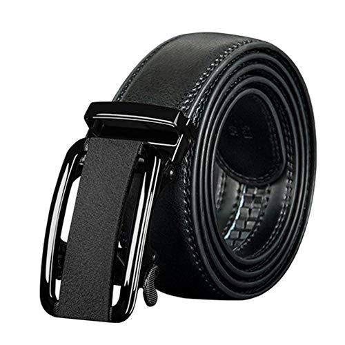 Preisvergleich Produktbild Tiners Herrengürtel Fashion Trend Ledergürtel Automatische Schnalle,  Langlebig Und Elegant Für Anzughosen, Black