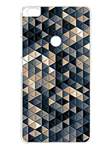 Xiaomi Max Cover - Triangular Pattern - Colorfull - Designer Printed Hard Case with Transparent Sides