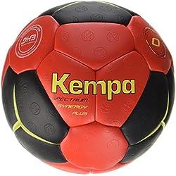 Kempa Spectrum Synergy Plus Pelota de balonmano, Unisex adulto, Negro / Rojo / Amarillo lima, 1
