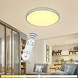 VINGO® 60W LED Deckenleuchte Stufenlos Dimmbar Wohnzimmerlampe Esszimmerlampe Schlafzimmerleuchte Badezimmerlampe spritzwassergeschützt