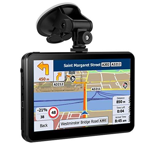 Navigation 7 Zoll 8 GB Navi Gps Navigationsgerät LKW PKW für Europa Traffic mit Fahrspurassistent Sprachführung Blitzerwarnungen und Lebenslange Kartenupdate ( Mehrsprachige)
