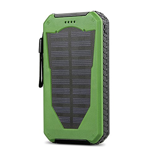 Solar Charger 15000mah Solar Power Bank Outdoor Wasserdicht Staubdichten Stoßfeste Solar Ladegerät Ultra Slim Dual USB Solar PowerBank 15000mah für iPhone 7 6 5, iPad, Galaxy und HTC SONY Tablet etc. .