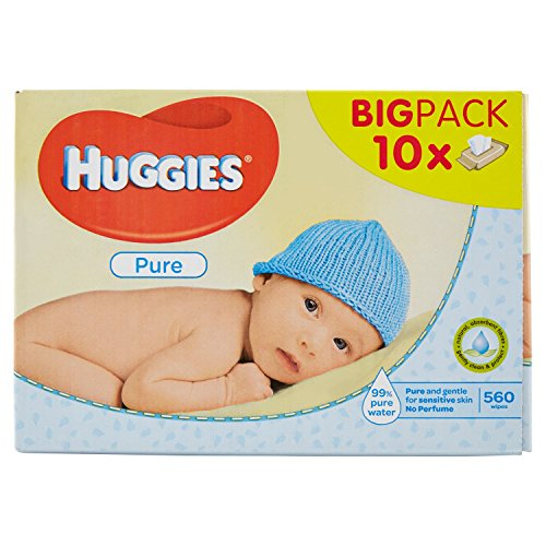 Huggies Lingettes Pure X10 Packs
