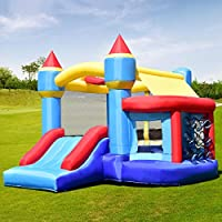 Costway Inflatable Bouncy Castle Kids Bouncer Jumping House Play Fun 4 Types Christmas Gifts (Type B W/Blower)