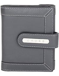 Cross® Women's 100% Genuine Leather Small Flap Wallet-Charol
