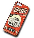 KOOLART Petrolhead Speed Shop Design für Mazda mx5 mx 5 Hartschalen Cover für Apple iPhone 4 4S