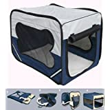 Bunny Business Dog Travel Folding Cage and Free Bed, Medium