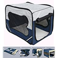 Bunny Business Dog Travel Folding Cage and Free Bed, Small