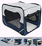 Bunny Business Dog Travel Folding Cage and Free...