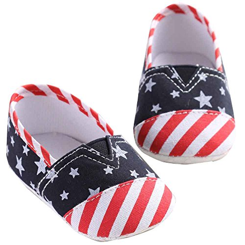 Hunpta Neue jungen Lauflernschuhe Baby Girl Canvas Schuhe Sneaker rutschfest weiche Sohle Schuhe (11, Rot) Rot
