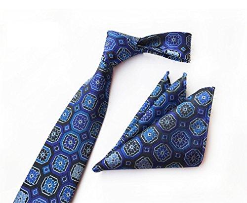 SKNSM hidalgo Conjunto de corbata de flores de tartán clásico para hombres Conjunto de corbata de corbata de cuadros escoceses de tela floral para conjuntos de Tie