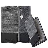 Cadorabo Book Case works with Huawei NEXUS 6P in GREY BLACK