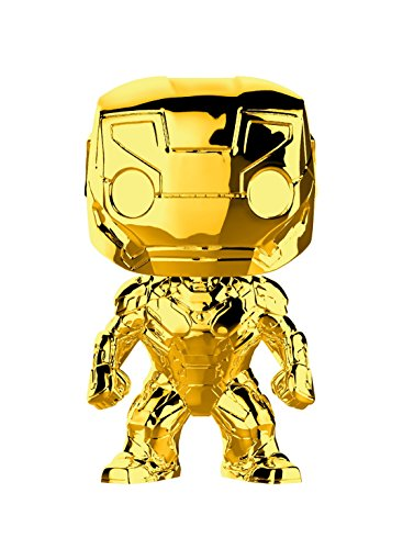 Funko – Pop.Color Marvel Studios 10: Iron Man (Chrome) (Bobblehead),, 33434