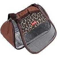 Graptsepk Hamster Rat Hedgehog Chinchilla Ferret Carrier Packet Sleeping Hanging Bag (Color: Negro)