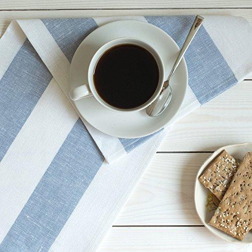 4 strofinacci lino - canovacci lino - strofinacci da cucina in lino - asciugapiatti lino - blu