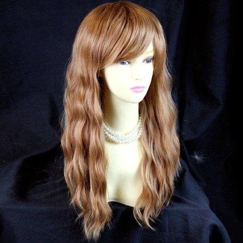 Belle Longue Blond Roux Résistant à la Chaleur Perruque WIWIGS
