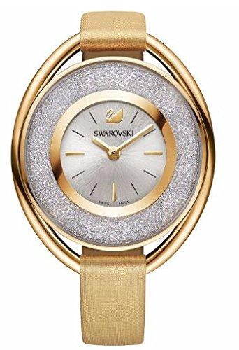 Swarovski Damen Analog Quarz Uhr mit Leder Armband 5158972