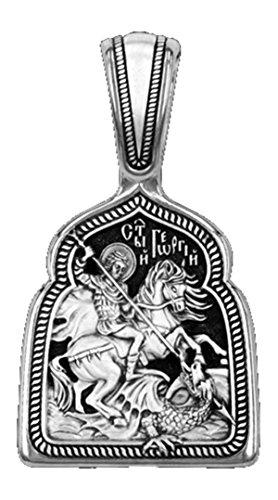 ☦ Medaille Symbol von St. Georges nach dem Drachen. Silber 925dm74(2)