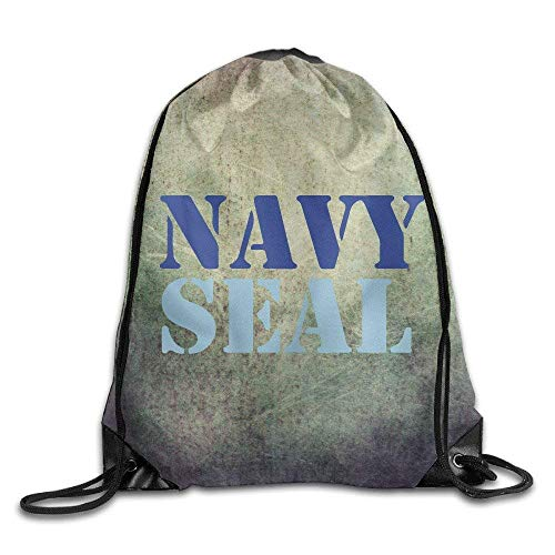 Hicyyu Navy Seal Sackpack Training Gymsack Drawstring Bag Drawstring Backpack Sport Bag Travel Bag Pouch Portable Backpack Rucksack Bagsack 16.9