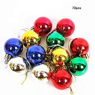 Wohlstand 72 Piezas Bola de Adorno, Bolas de Navidad,Decoraciones para árbol de Navidad,chucherias de Navidad,para Colgantes Navidad Adornos árbol de Fiesta decoración de Navidad(Color Mezclado)