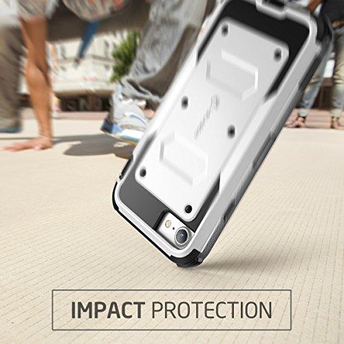 iPhone 8 Hülle, i-Blason [Armorbox] Dual Layer Schutzhülle Ganzkörper Schale Cover Robust Handyhülle mit eingebauter Displayschutzfolie und Schwenkbar Gürtelclip (Kompatibel mit Apple iPhone 7 / iPhon Weiß