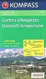 Cortina d'Ampezzo, Dolomiti Ampezzane (Dolomites) 1:25.000 topographic hiking map #617 Kompass