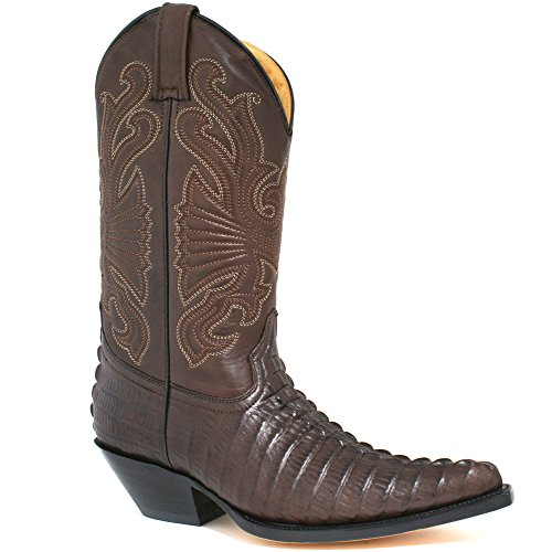 Grinders - Botas para hombre Croctail Dark Brown, color marrón, talla 45