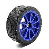 Aexit Ruota del pneumatico per auto giocattolo blu RC nera con supporto per motore di riduzione GA25 ID: 488124